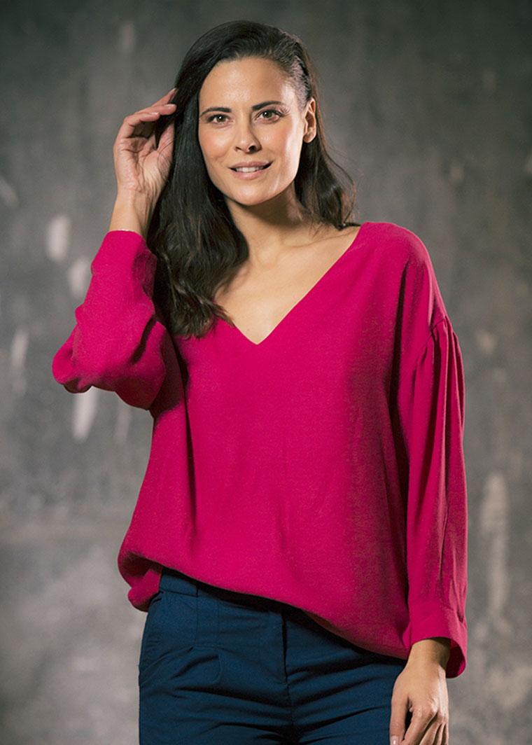 Camisa Maya fucsia, Elena Bazán